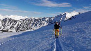 A ski touring day